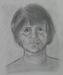 self-portrait drawing