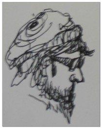 sketching in ink
